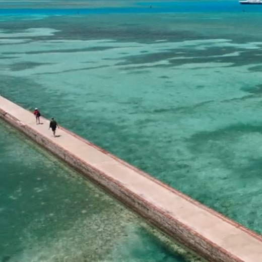 Dry-Tortugas-Virtual-Tour-Sorrounding-Vicinity-Clear-Blue-Waters