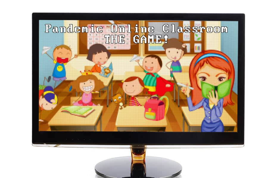 computer-monitor-with-online-learning-in-a-virtual-classroom-game-square