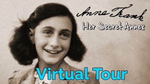 Anne Frank guided virtual tour with worksheet